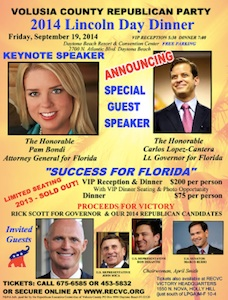 Voluia County GOP Lincoln Dinner Poster / Headline Surfer®