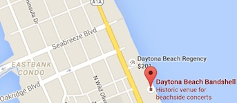 Locator map of the Daytona Beach Bandshell / Headline Surfer®