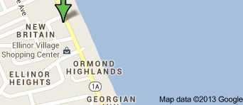 Lacator map on drowning victim in Ormond Beach / Headline Surfer