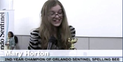 Mry Horton of Melbourne finishes in top 5 in spelling bee on ESPN / Headline Surfer®