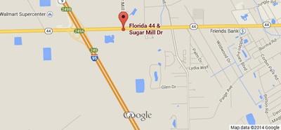 Here is a locator map of the crash scene on SR 44 in New Smyrna Beach / Headline Surfer®