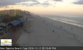 Chilly day on New Smyrna Beach on Monday / Headline Surfer®