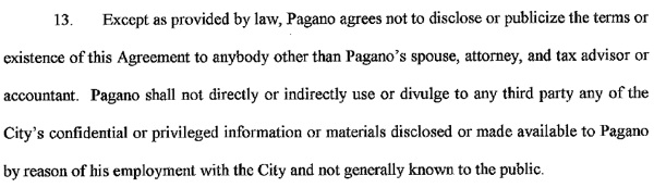 Contract signed secretly with Police Chief Ron Pagano / Headline Surfer