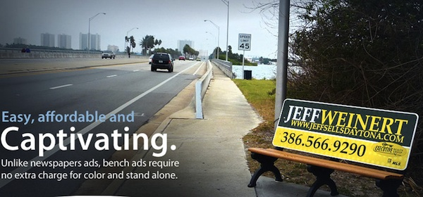 Waverly Media park benches dot roadsides in Volusia County, FL / Headline Surfer®