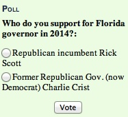 InstaPoll on choice for Florida governor: Scott or Crist? / Headline Surfer