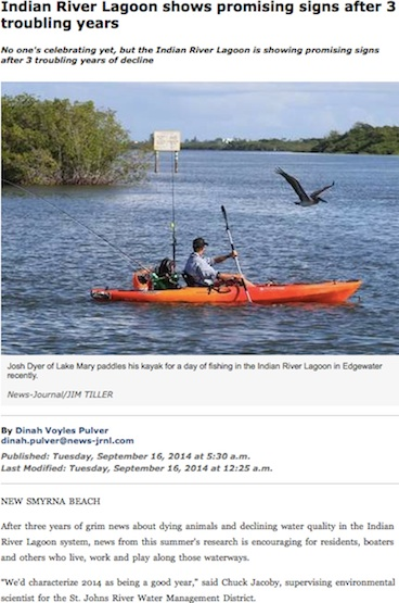Dinah Pulver series on water quality in Indian River Lagoon / Headline Surfer®
