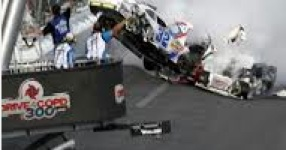 Cars airborne in 2013 Nationawide race at Daytona International Speedway / NASCAR photo / Headline Surfer