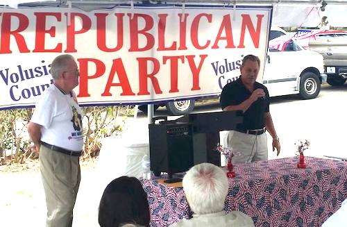State Attorney RJLarizza at GOP event in Volusia County with Chair Tony Ledbetter