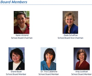 Diane Bauer and her Seminole County School Board colleagues / Headline Surfer