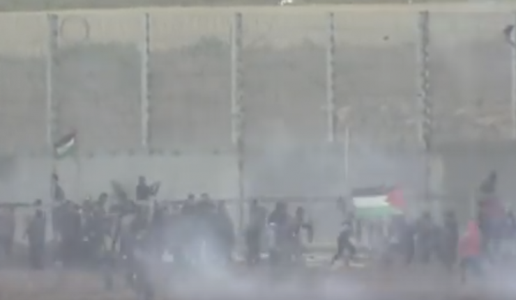 Israeli Military Fires Tar Gas At Protesting Palestinians