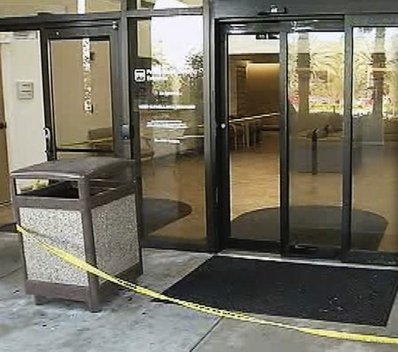 Front entranceway of Halifax Hospital shot out by gunman who jailed himself / Headline Surfer®