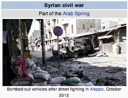 Syrian Civil War Snapshot / Wikipedia / Headline Surfer