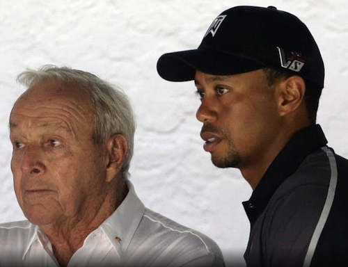 Tiger Woods with Arnold Palmer, won't be going for 9th invitational in Orlando / Headline Surfer®