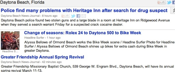 Bike Week story on HeadlineSurfer.com trending in search engines / Headline Surfer