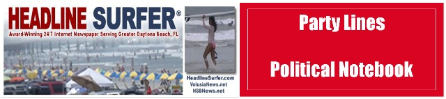 Party Lines Political Notebook for Daytona Beach-Orlando, Florida / Headline Surfer®