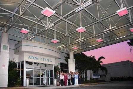 Bert fish medical center shines a pink light on breast for Bert fish hospital