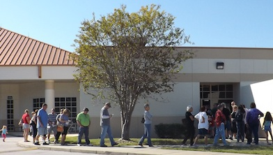 early voting was a breeze Saturday at the New Smyrna Beach Library