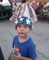 Riley Wood, 6, of New Smyrna Beach at 2012 Edgewater fireworks