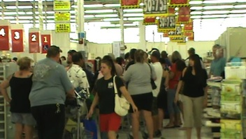 Last-minute shopping before permanent closing of New Smyrna Beach Kmart.