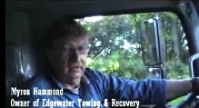 Myron Hammond of Edgewater Towing & Recovery