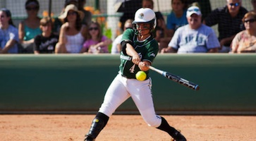 Chelsea Walley of Stetson Hatters hits a homerun / Headline Surfer